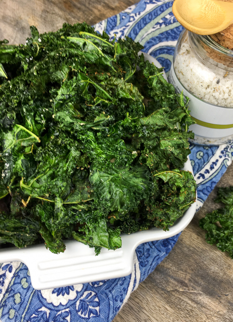 Crispy Seasoned Kale Chips Fashion Food Music Fashion